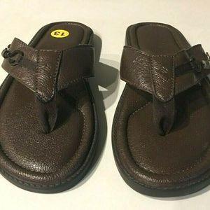856243d7cb33b Tommy Bahama Shoes - Tommy Bahama Belize Vintage Leather Flip Flop 13M